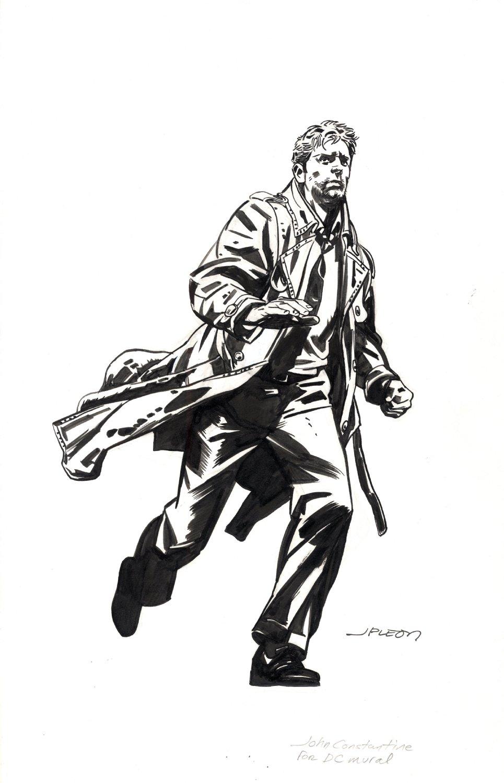 John Constantine Hellblazer DC Mural