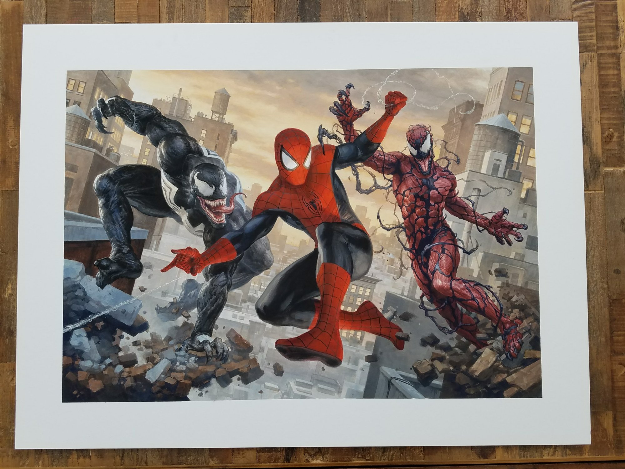 Spiderman Carnage and Venom Painting