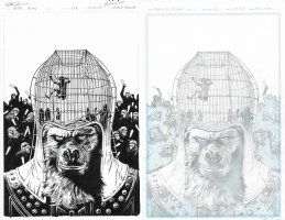 Planet of the Apes Ursus Cover Issue 01 Page Cover Comic Art