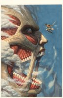 Attack on Titan NYCC Exclusive Cover Page GN Cover Comic Art