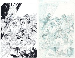 Avengers finale variant Issue 34 Page Cover Comic Art