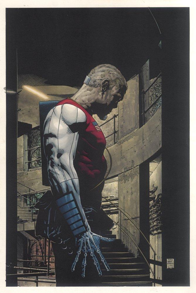 Marvel Knights Millenial Visions Deathlok Painting