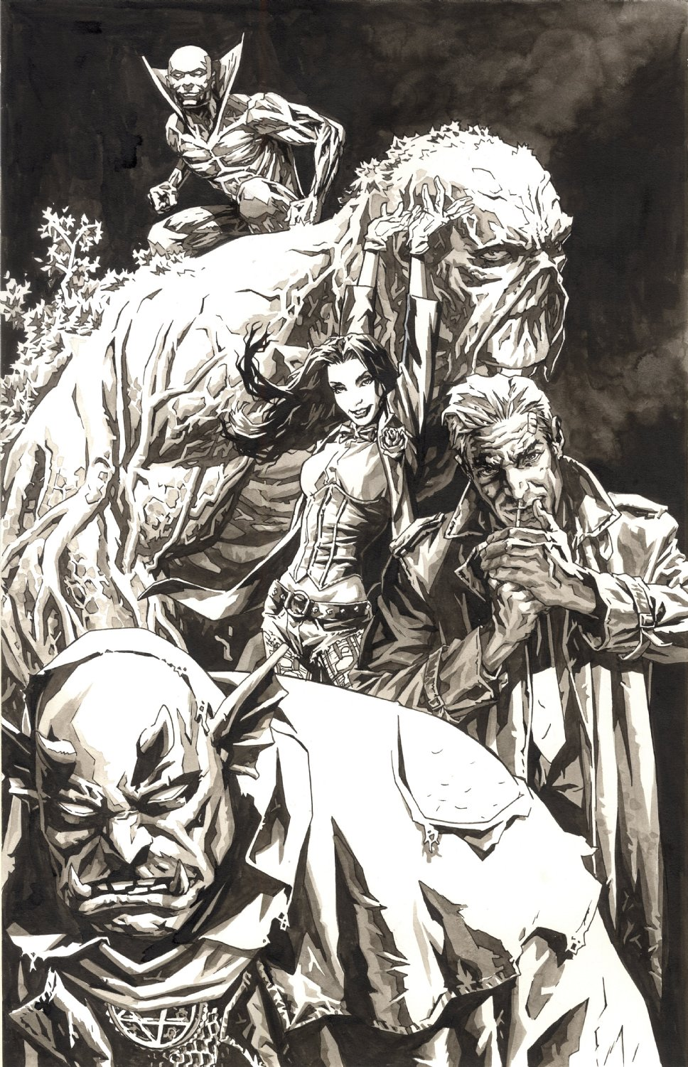 Justice League Dark Unpublished Cover