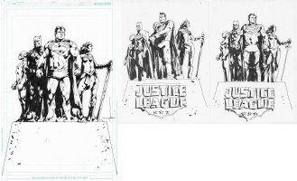 Justice League Cover Issue 01 Page Cover Comic Art