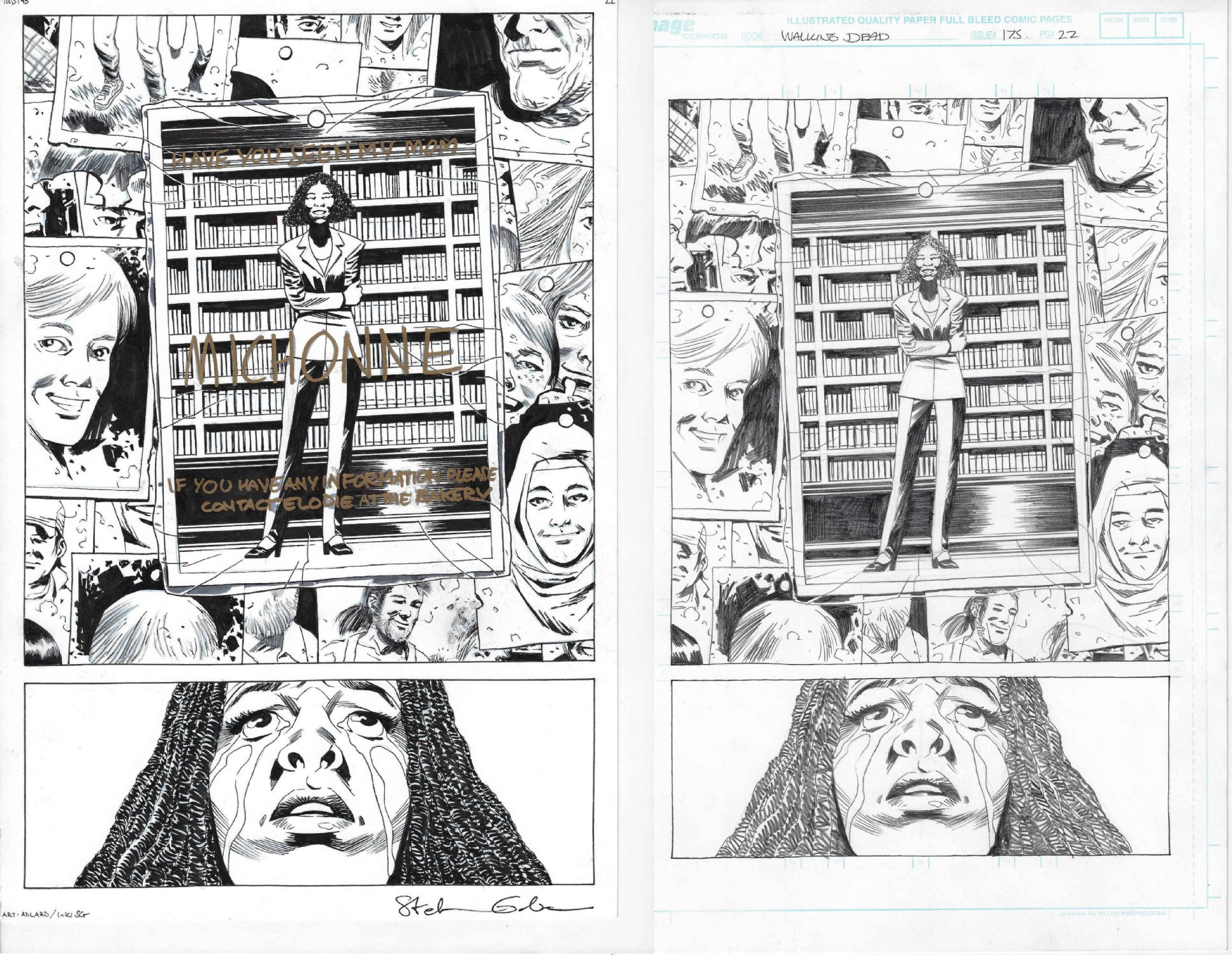 Charlie Adlard Walking Dead 175 Pg 22 Michonne Has a Daughter