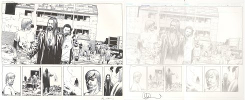 Walking Dead Issue 119 Page 02 and 03 Comic Art