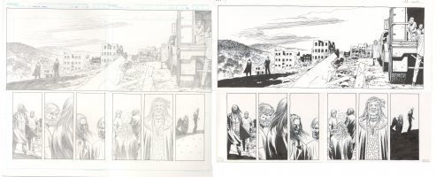 Walking Dead Issue 115 Page 14 and 15 Comic Art