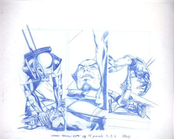 Green Arrow  Panels 02, 03, & 04