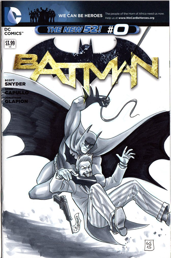 NYCC Free Blank Sketch Comic Batman & Joker
