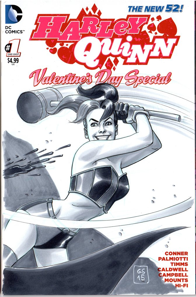 NYCC Free Blank Sketch Comic Harley Quinn