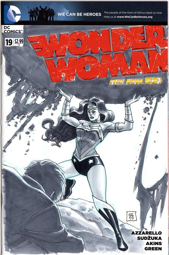 NYCC Free Blank Sketch Comic Wonder Woman