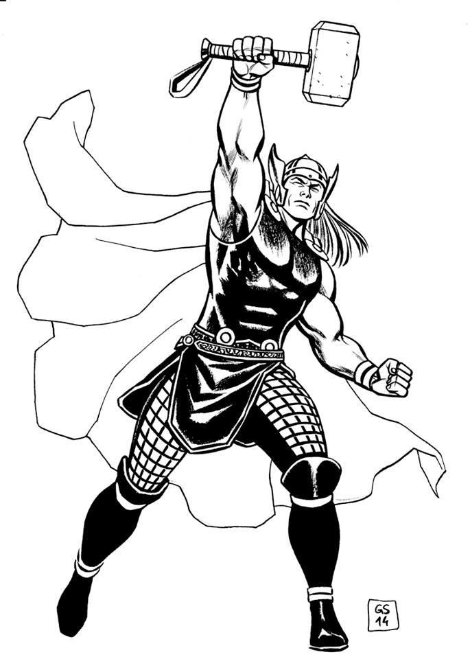 Goran Sudzuka Thor Commission Example NOT FOR SALE