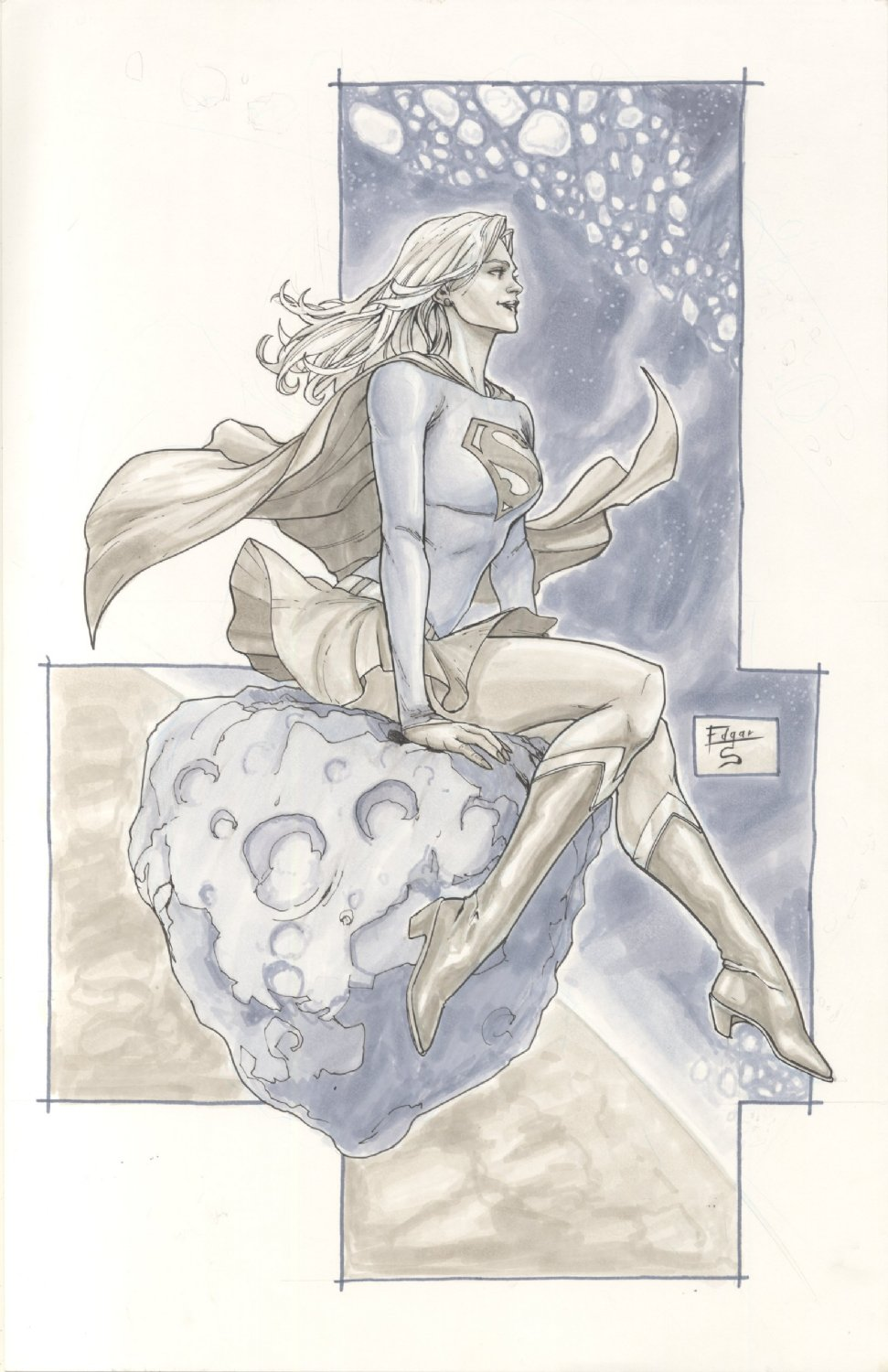 Supergirl Commission Example