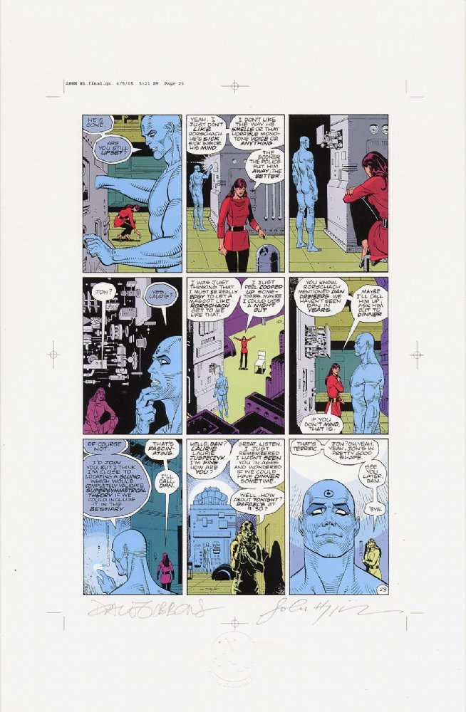 Watchmen Chapter I Color Proof