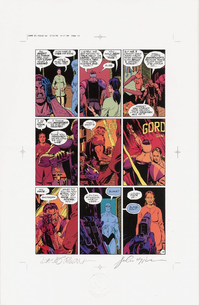 Watchmen Chapter II Color Proof