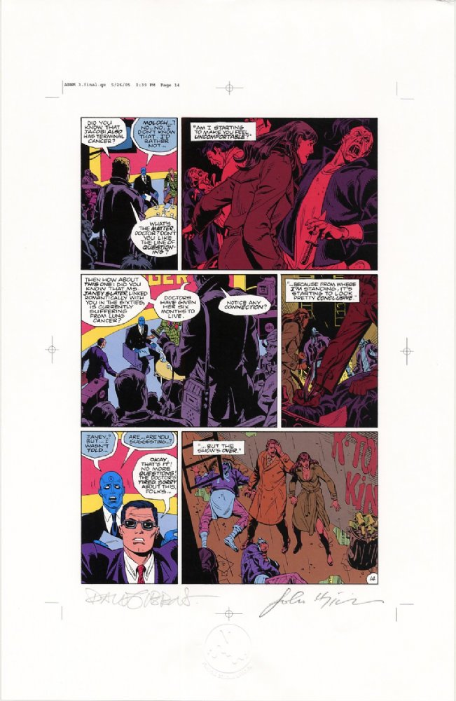 Watchmen Chapter III Color Proof