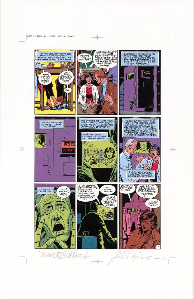 Watchmen Chapter IV Color Proof
