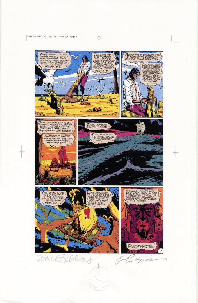 Watchmen Chapter V Color Proof