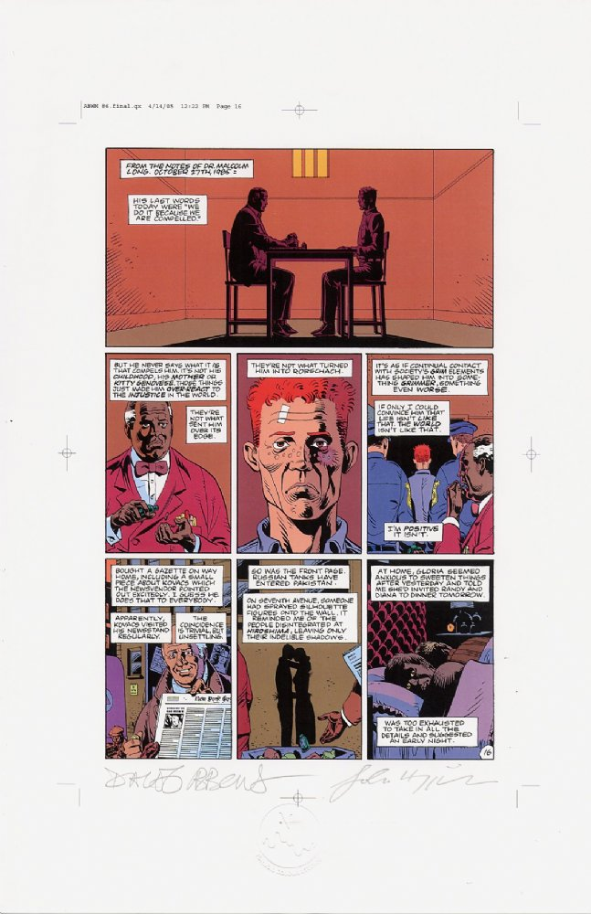 Watchmen Chapter VI Color Proof