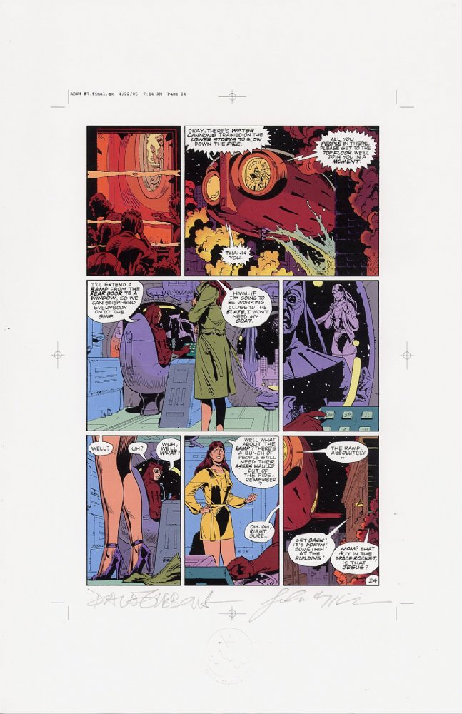 Watchmen Chapter VII Color Proof