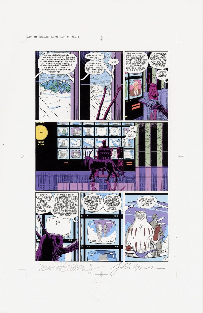 Watchmen Chapter XI Color Proof