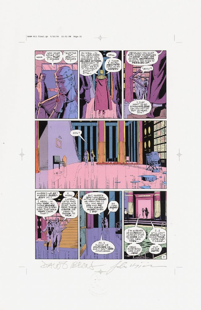 Watchmen Chapter XII Color Proof