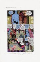 Watchmen Chapter II Color Proof Page 13 Comic Art