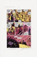 Watchmen Chapter II Color Proof Page 17 Comic Art