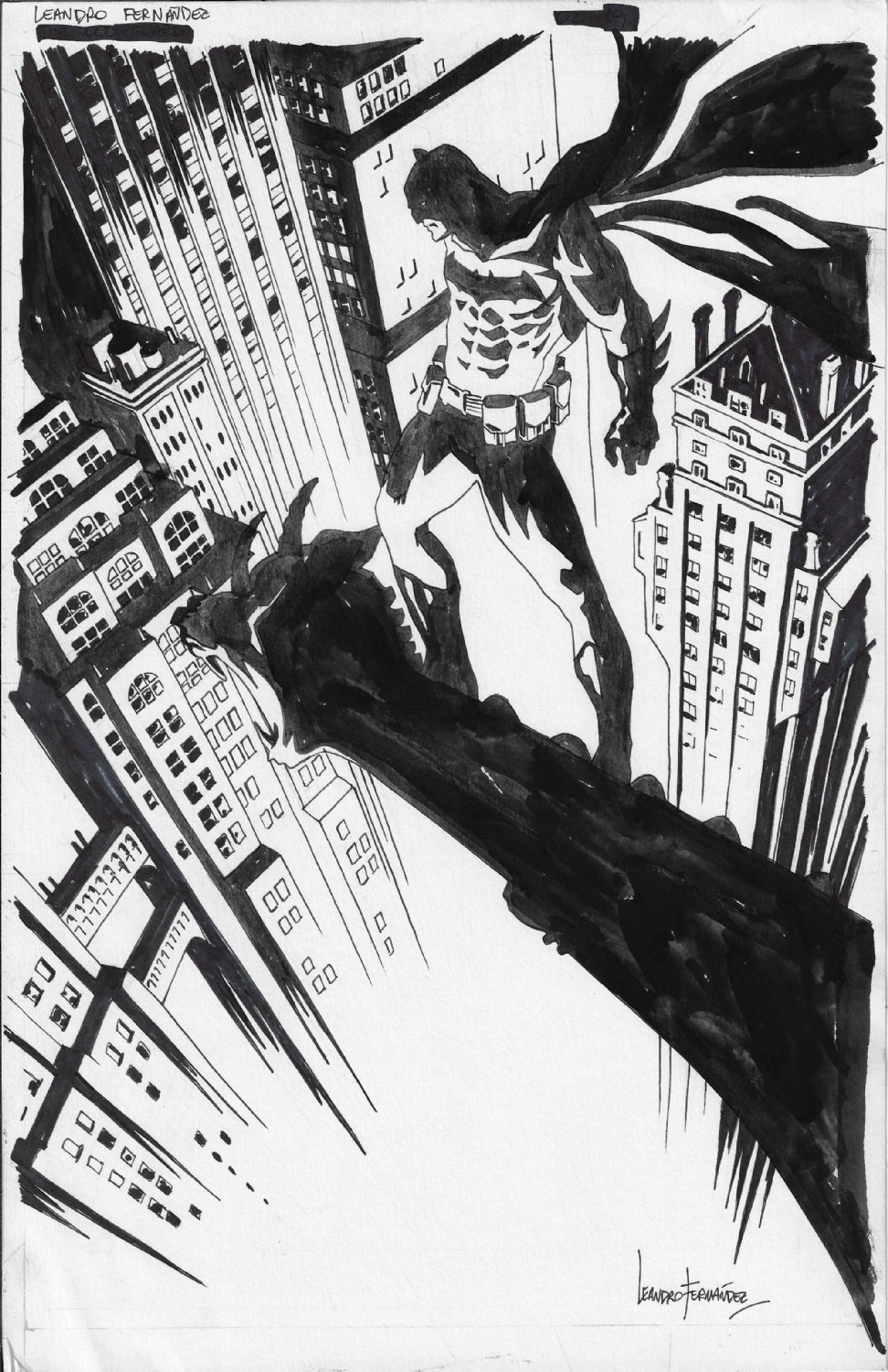 Leandro Fernandez Batman with Background Commission Example