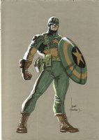 Captain America Color Illo. Comic Art