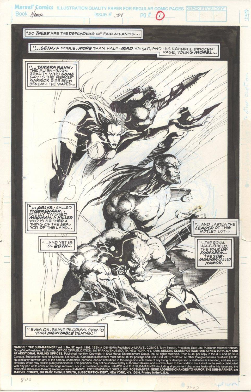 Jae Lee Vintage Narmor & Uncanny X-men Art