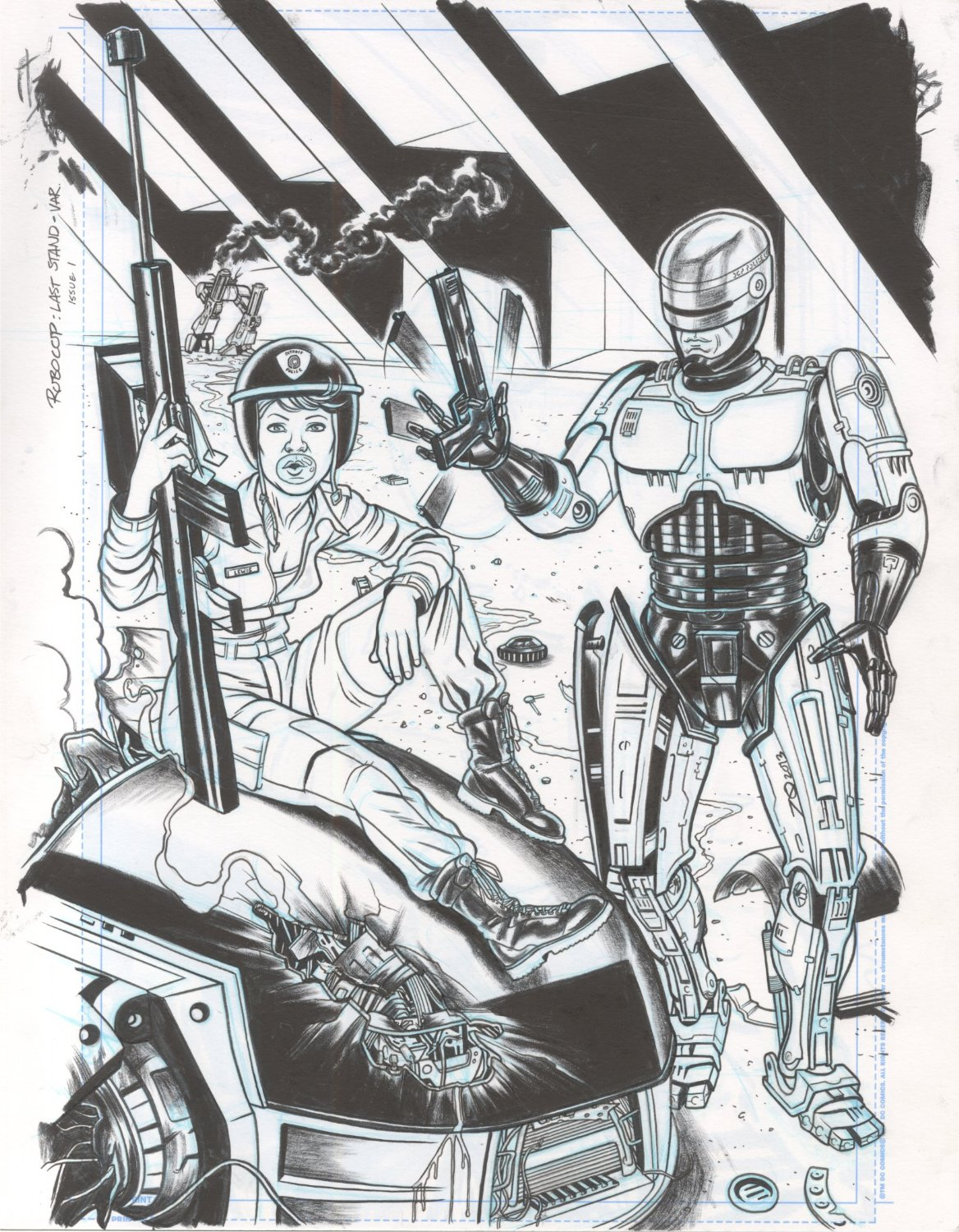 Robocop Last Stand Variant Cover