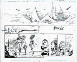 Aquaman Annual Crownspire Issue 01 Page 04 & 05 Comic Art