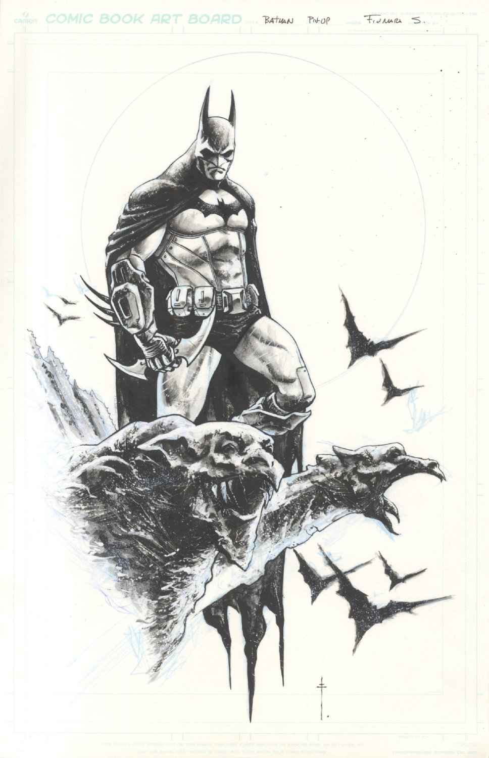 One character 11 x 17 Commission Example by Sebastian Fiumara