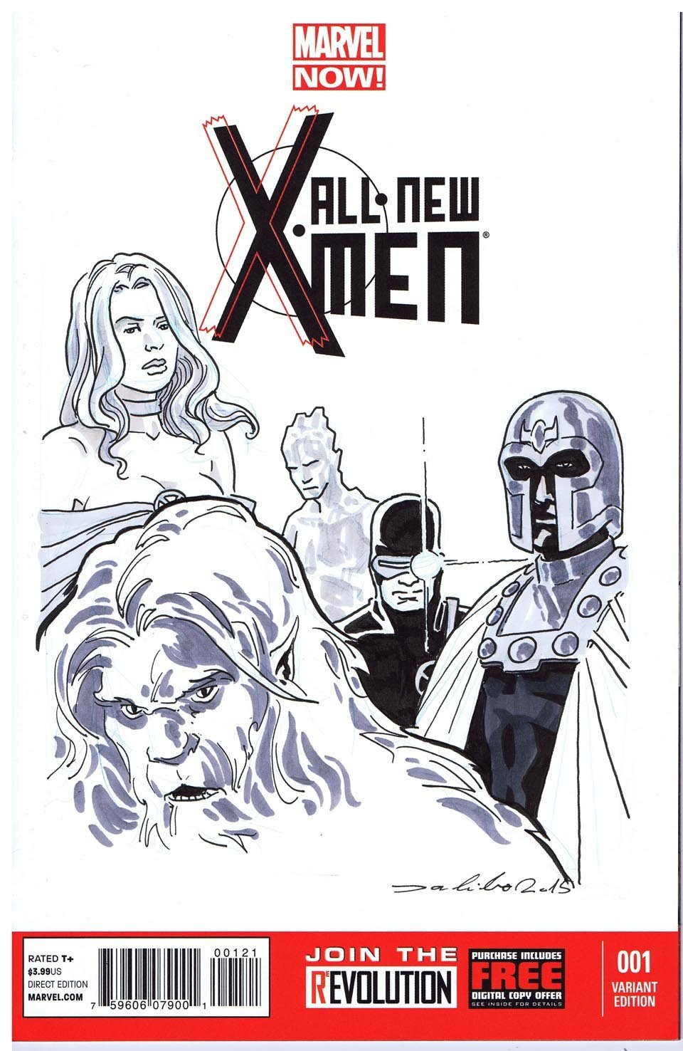 All New X-men Sketch Cover