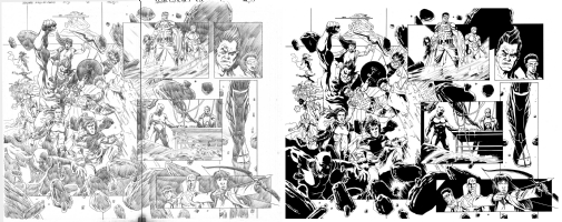 Deadpool Kills The Marvel Universe Again Issue 03 Page 18 & 19 Comic Art