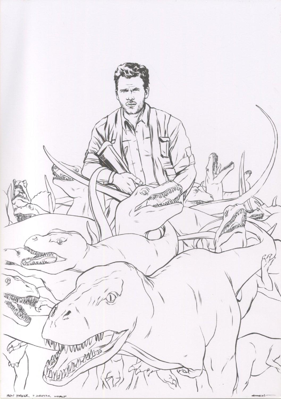 New Yorker Magazine Illustration - Jurassic World
