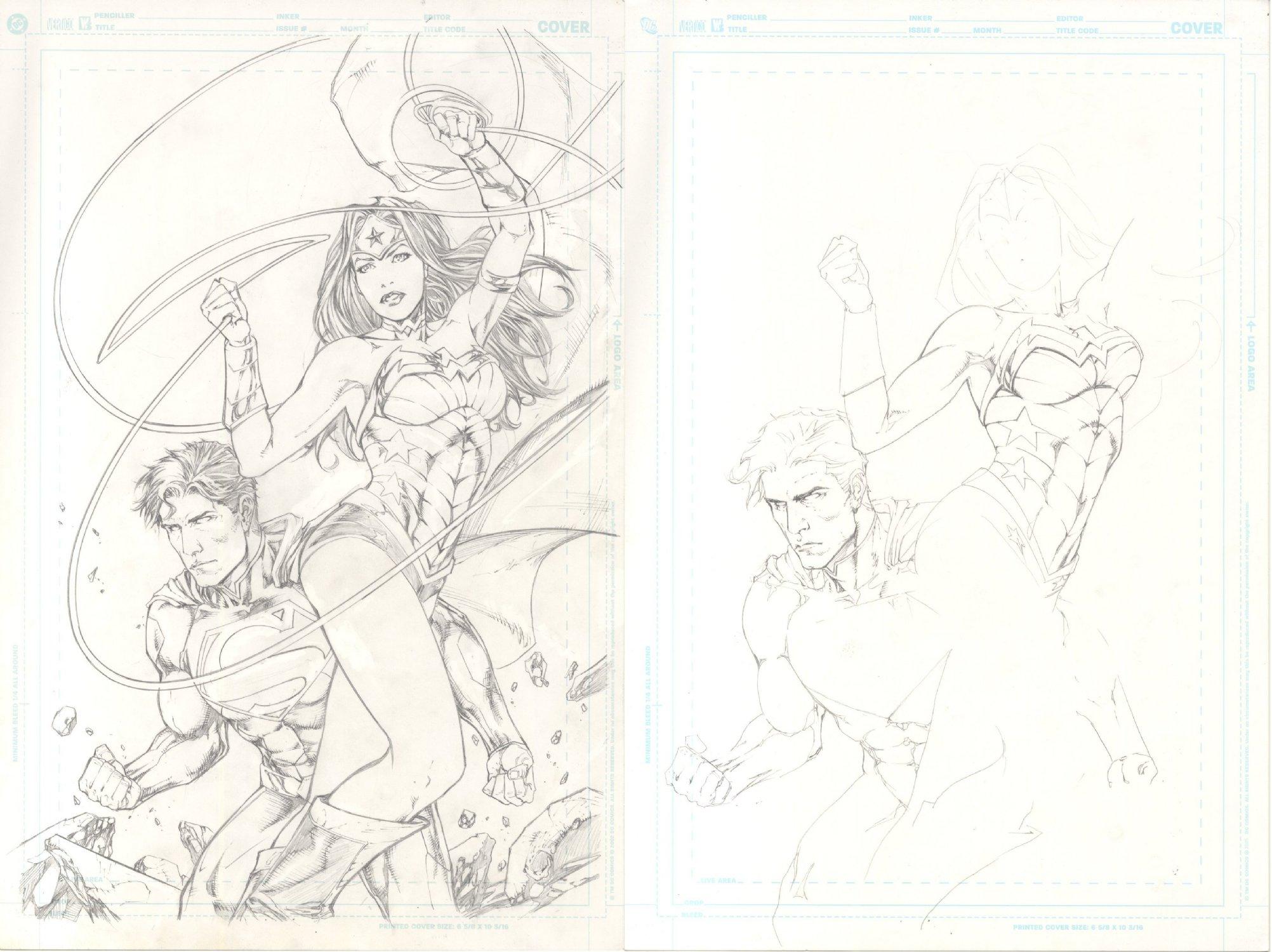 Superman Wonder Woman Variant Cover
