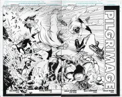 Warstrike Issue 01 Page 04 & 05 Comic Art