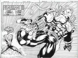Warstrike Issue 03 Page 02 & 03 Comic Art